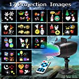 Proiettore Luci Natale Esterno, InnooLight Proiettore Natale con 17 diapositive a tema colorato,...