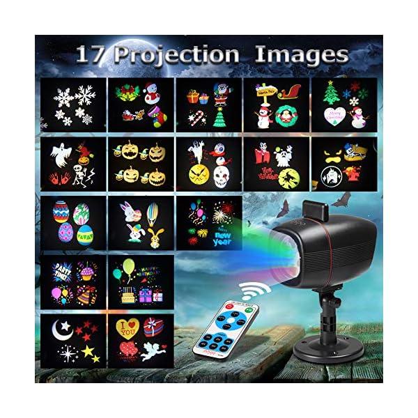 Proiettore Luci Natale Esterno, InnooLight Proiettore Natale con 17 diapositive a tema colorato, IP65 Impermeabile… 2 spesavip