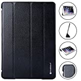 Invision iPad Case 9.7 inch 2018/2017 Protective Smart Cover with Triple-layer Protection & Reinforced Impact Zones � Quality PU Leather Finish & Microfibre Inner - Auto Sleep/Wake Function Black