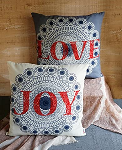 Store Indya 100% Cotton Throw Pillowcase Cushion Covers 18 x