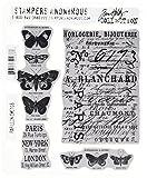 Occasion, Tim Holtz Cling Rubber Stamp Set-Papillon d'occasion  Livré partout en France