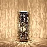 albena shop 71-6334 Lakia lámpara de mesa oriental ø 15 x 30,5 cm cilindro metal plata