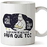Mugffins Papa Tasse/Mug - Du pôle Nord au pôle Sud - Tasse Originale/Idee Fête des Pères/Cadeau Anniversaire/Future Papa. Cér