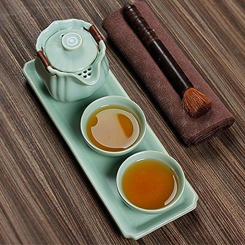 Ensembles de thé à thé en porcelaine Ensemble un pot ER Tasse de voyage