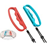 LICHIFIT Boxing Grips for Nintendo Switch Joy-Con, Handles Hand Grips Fit Boxing Clasp L&R with Hand Straps for NS Fitness Bo