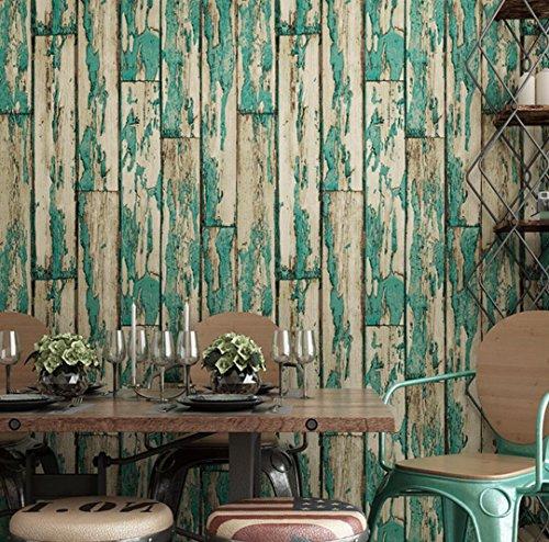 BIZHI PVC Retro, um die alte Tapete antiken Holz Tapete Bar Kaffee Karte Dekoration Aufkleber (0,53 m * 10 m), 0.53m*10m