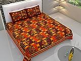 Artico 100% puro algodón indio King tamaño cama doble tela decorativa Rajasthani tradicional tapiz Mandala bohemio Boho Hippie aguja bordado Kantha trabajo elefante camello motivos estilo con 2funda de almohada