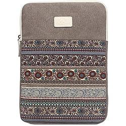 Feisman Funda de lona impermeable para laptop y tableta de 14 pulgadas - (gris)