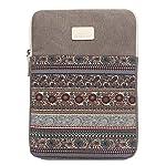 Feisman 13-13,6 Zoll Laptop-Hülle Tasche Laptop Schutzhülle für 13 Zoll MacBook Air / Pro und iPad Ultrabook Notebook Tragetasche -(Grau)