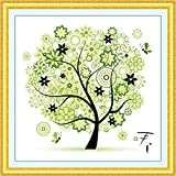 Sinbury® DIY Counted Cross Stitch Kits Embroidery Set Spring Season Home Decor Colorful Tree