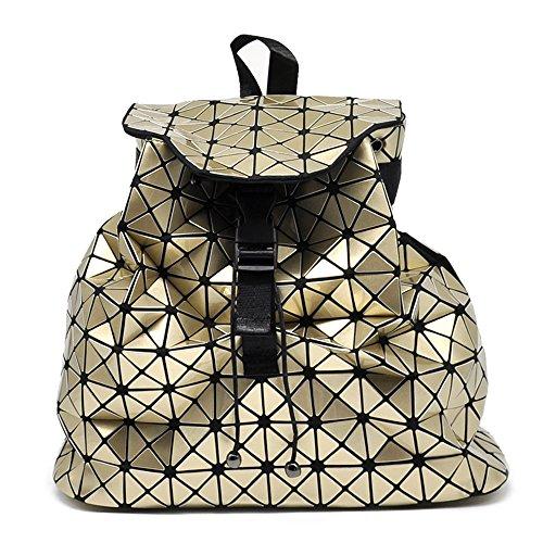 Sconosciuto , Damen Rucksackhandtasche schwarz schwarz gold