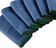 WypAll Cleaning Premium Microfiber Cloth, High Absorbency, Dust and Lint free cleaning, Pack of 6 Cloths, Blue
