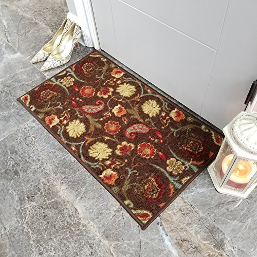 afkag gterdecor Teppich (13) Fußmatten Bezug rutschfest maschinenwaschbar Outdoor Indoor Badezimmer Küche Decor Teppich Alle Bereiche Matte (45,7x 76,2cm/45x 75cm), Synthetisch, braun, 18