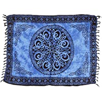 Guru-Shop, Pareo, Tapiz, Falda del Abrigo, Vestido Pareo Azul Celta