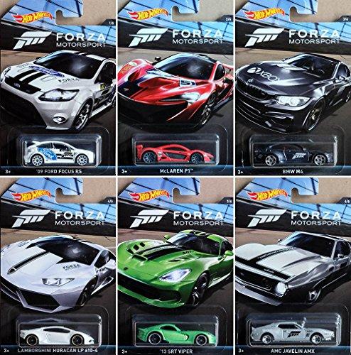 Preisvergleich Produktbild Mattel Hot Wheels DWF30-34,  Limited Car Forza Racing Fahrzeug,  1-er Pack,  sortiert (Auswahl nicht möglich)