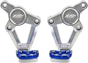 Xadv X Adv Motorrad Fußrasten Faltbar Fußrastenanlage Fußstütze Cnc Aluminium Für Honda X Adv X Adv 750 2017 2018 Silber Blau Auto