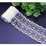 10 Meter weiß vintage Spitzenbordüre, Spitzenband, Hochzeitsdekoration, Dekorband, Zierrand, Handwerk Bordüre, Schleifband, Verpackungsdeko, 4,5cm Breite