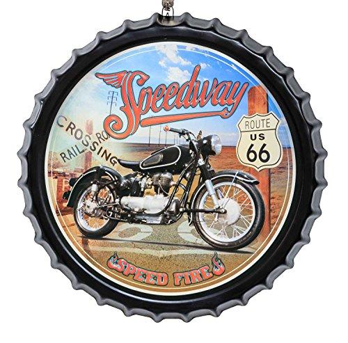 Muestra de la lata cartel de chapa cerveza 50cm estilo antiguo Route 6