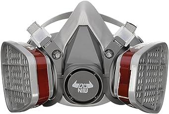 Atemschutzmaske DANIU Gasmaske Schutz Halbmaske für Farbspritz, Staub, Chemikalien, Pestizide Schutz Geruchsminderung für Sprüh-, Sanierungs-,Lackier- und Schleifarbeiten (Maske Ⅱ)