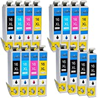 Pictech® Compatible ink Cartridges for Epson WorkForce WF-2630 Four-in-One for the Small Printer - Replacement for Epson 16XL ink Cartridges (7x Black, 3x Cyan, 3x Magenta, 3x Yellow) (3 Sets + 4 Black)