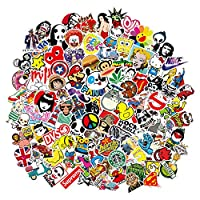 Stickers 200 Pcs Vinyl Waterproof Cute Water Bottle Stickers Laptop Luggage Graffiti Trendy Stickers for Hydro Flasks Skateboard Motorcycle Guitar Phone Bicycle Car for Teens Girls Boys Adults