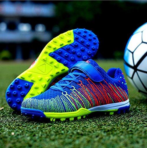 Xing Lin Fußballschuhe Neue Girl'S Fußball Schuhe Kaputt Nägel Künstliche Gras Rutschfeste Verschleiß Kleiner Hof Kinder Sportschuhe, 31 Kleine Werft 19,8 Cm, Royal Blue 528 (Neue Fußball-schuhe)