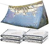 Semptec Urban Survival Technology Universalzelt: 4er-Set Notfall-Zelte für 2 Personen, hitzeabweisend, kältedämmend (Zelt Zum Überleben)