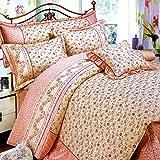 Weimilon Baumwolle Bettbezug Vier Jahreszeiten,Blumen,Gestreift,Einzigen,Student,Individuell,Double C Casual Chic 220 * 240Cm(87X94Inch) (Color : C, Size : 150x215Cm)