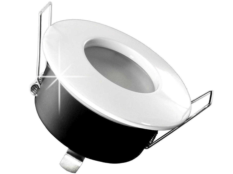LED Einbau Strahler Für Bad, [Feuchtraum IP65], Einbau Leuchte RW 1 Weiss,  5W Warm Weiß, GU10 230V [FÜR IHR BAD...aber Nicht Nur, Leichter EINBAU, ...