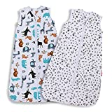 Lictin Baby Sleeping Bag - Baby Wearable Blanket Sleeping Sack Baby 2pcs Baby Swaddle Sack Blanket Sack with Adjustable Length 70-90cm for Infant Toddler 3 to 18 Months