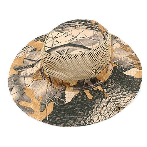 Leisial Gorra Sombrero de Camuflaje Casquillo Alpinismo Montaña Deporte al  Aire Libre Algodón Sombrero de Pescador 0042b9afc62
