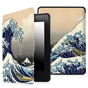 Fintie Kindle Paperwhite Custodia - Case Cover Custodia Ultra Sottile per Amazon Nuovo Kindle Paperwhite (Adatto Tutte le versioni: 2012, 2013, 2014 e 2015 Nuovo 300 ppi), Rough Sea