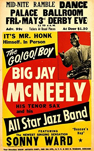 big-jay-mcneely-his-tenor-sax-and-his-all-star-jazz-band-fantastic-a4-glossy-art-print-taken-from-a-