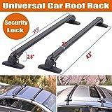 Universal verstellbar Dachträger Kreuz Bars für Auto Truck ohne Schienen, abschließbar Diebstahlschutz System mit Schlüssel
