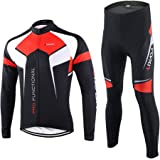 Lixada Spring Autumn Cycling Clothing Set Sportswear Suit Bicycle Bike Outdoor Long Sleeve Jersey + Pants Breathable Quick-dr