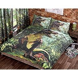 T Rex colcha para cama individual de funda de edredón juego de funda de y P/Dino Jurassic ropa de cama funda de dinosaurio