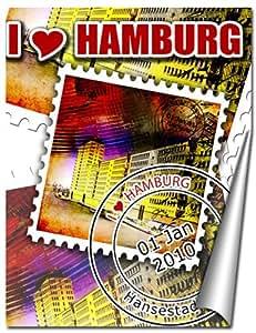 Photos de Hambourg comme une affiche en orientation portrait in 60x80 cm