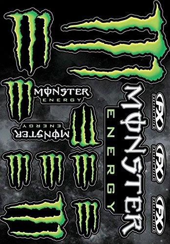 """Preisvergleich Produktbild Aufkleberbogen mit 13""""Monster Energy FX Factory Effex""""-Stickern, 45x 30cm großer Bogen, Motorrad-/ Fahrradaufkleber"""