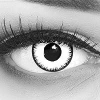 Farbige Kontaktlinsen 1 Paar weisse schwarze Lunatic Vampir mit schwarzem Rand 1 Paar. Topqualität zu Halloween…