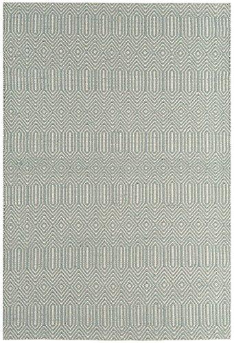 Alfombra salon sala de estar Carpet moderno Design SLOAN STREIFEN RUG 55% Algodón 45% Lana 160x230 cm Rectangular Azul | Alfombras barata online comprar