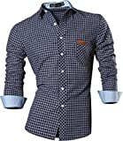 Jeansian Hombre Camiseta Moda Manga Larga Long Sleeves Camisas Casual ...