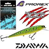 Daiwa Prorex Minnow SR Wobbler alle Modelle mit Angel Berger Stahlvorfach (Fire Tiger, 12cm)