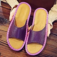 fankou Slippers Couples Home Slippers Women Indoor Summer Non-Slip Summer Home Cool Slippers Male Summer Sandals,35-36, Purple