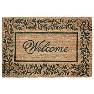 J & M Home Fashions Olive Leaves Vinyl Back Coco Doormat, 24-Inch by 36-Inch by J&M Home Fashions