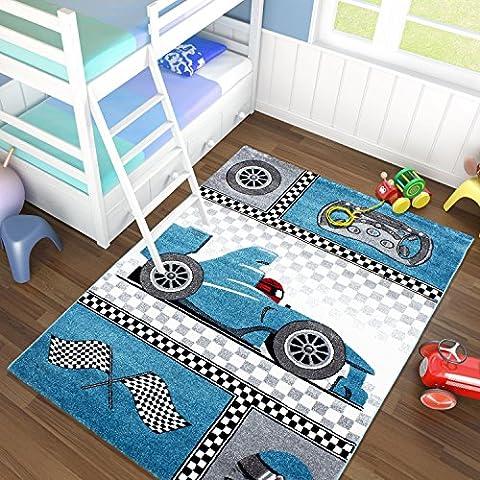 Kinder Teppiche_Wohnzimmer, Gästezimmer, Jugenzimmer Teppiche_KIDS0460BLUE_Spielteppich, Maße:120x170