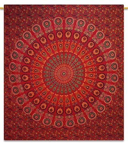 Handicrunch Indian Tapestry Muur Opknoping Bohemian Wandtapijten Mandala Tapestry Full Size 92 - Block Bedruckten Baumwollbettlaken