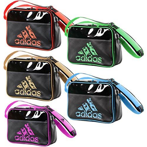 Adidas Schultertasche / Umhängetasche / Leisure Messenger mit Schultergurt / FARBAUSWAHL / GRÖßENAUSWAHL (L, BLACK-PINK) (Adidas-symbol)