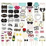 72 accessoires photomaton-Assortiments d'accessoires drôles pour un mariage, une fête, la réalisation d'autoportraits