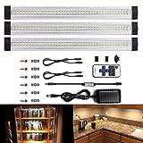 LEBRIGHT LED Unterbauleuchte Schrankleuchte LED Unterbauleuchte, LED Schrankleuchte Dimmbar LED Unterbauleuchte Kit 3Pcs 4W 3500K 300MM,1100lm(Warmweiß 3500k)