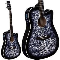 Lindo Nero Skull Corpo magro chitarra acustica electro con SV-T740 preamplificatore Sintonizzatore Borsa Gig